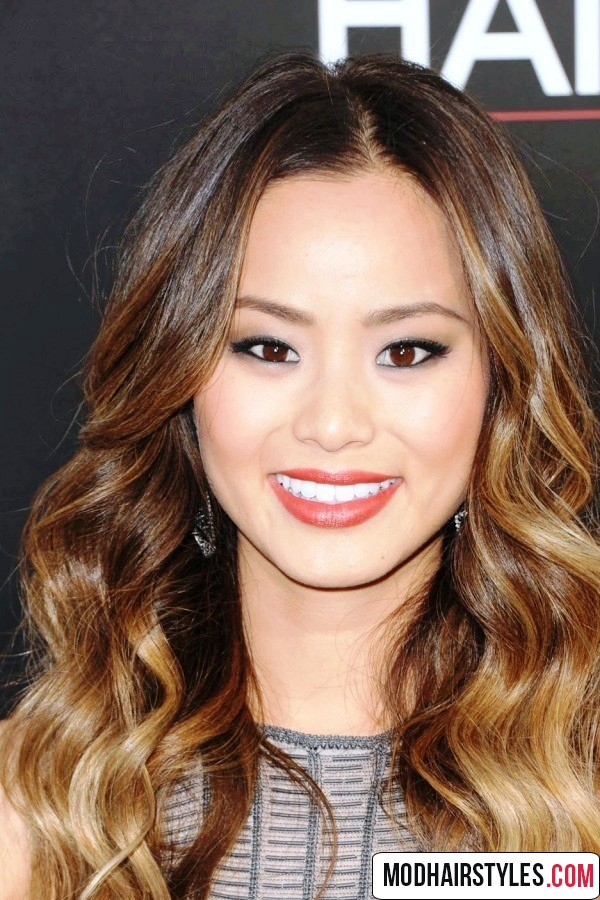 ombre colored long wavy hair