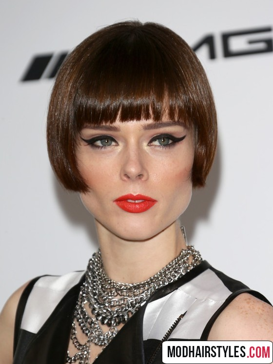 charming Short Hair with Bangs