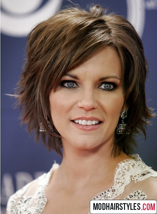gorgeous asymmetrical short hair