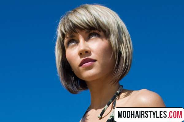 Layered thick bob haircut