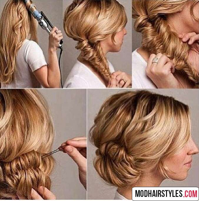 braided messy bun tutorial