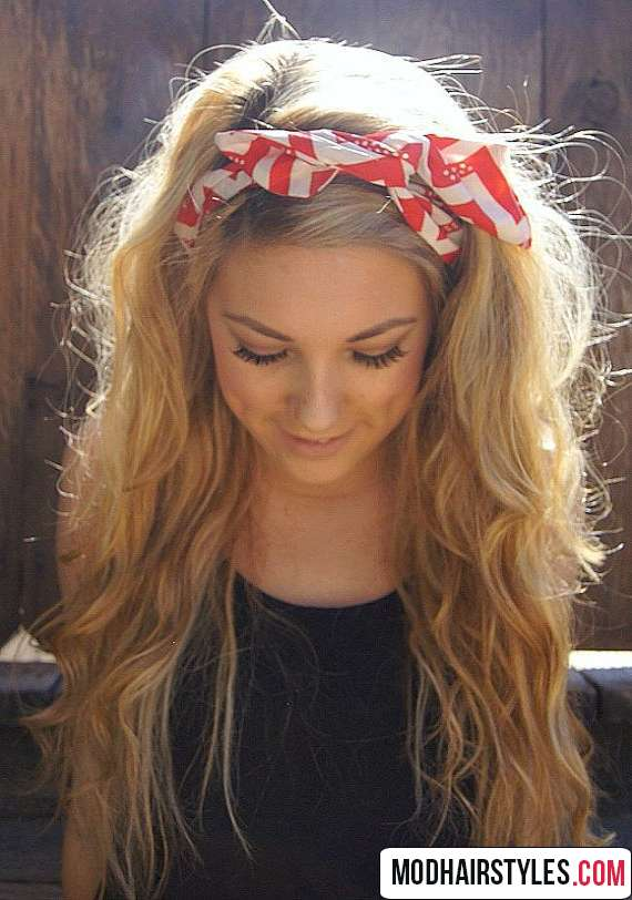 Red headband hairstyle accessory